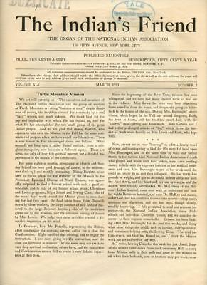 March 1933 The Indian's Friend Magazine Newspaper National Indian Association