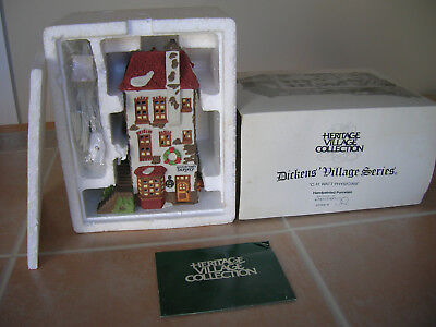 Dept 56 Dickens Village Heritage C H Watt Physician lighted Christmas House box