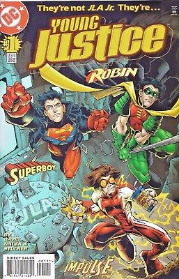 Young Justice #1  Robin * Impulse * Superboy  1998  Nice!!