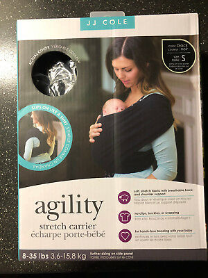 1f14fa39bf4 JJ COLE Agility Stretch Carrier Black Size Small Baby Carrier Sling  C2