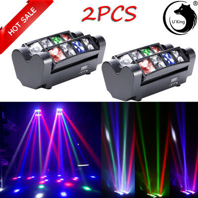 U`King 2PCS 80W RGBW 8 LED Spider Stage Light DMX Band Club Party Disco Lighting