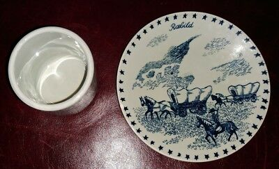 Vtg Nymolle Made in Denmark DEK #233 Rebild Demi Cup & Saucer Pottery Old