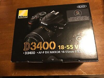Brand New Nikon D3400 24.2MP +18-55mm f/3.5-5.6G VR Lens Kit