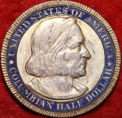 1892 Philadelphia Mint Painted Columbian Expo Silver Comm Half