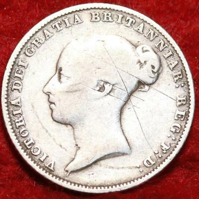 1856 Great Britain 6 Pence Silver Foreign Coin