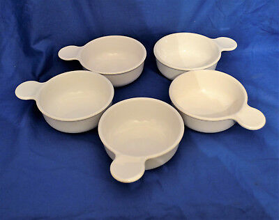 Lot Of 5 Round White Corning Ware Grab It Bowls P-150-B * 15 Ounces *