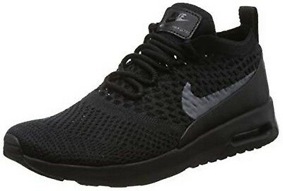 441f1a6fc99f WOMENS NIKE AIR Max Thea Ultra Flyknit 881175 004 Black Dark Grey ...