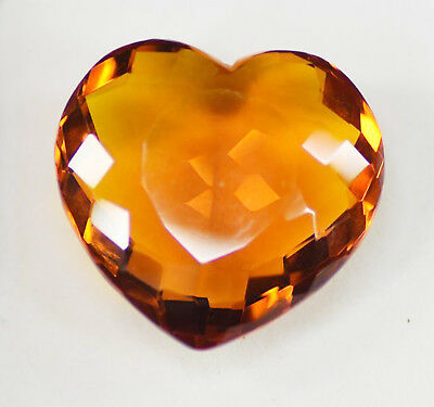 Amazing Offer 104.10 Ct Heart Shape Certified Yellow Citrine Loose Gemstone