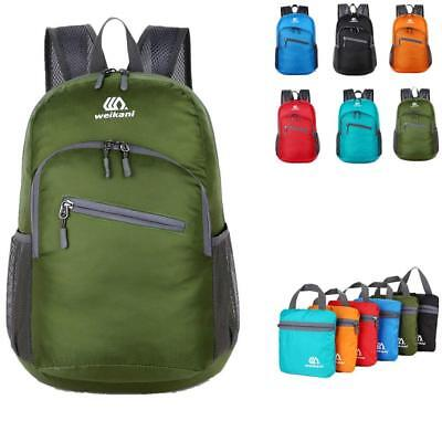 Ultralight Daypack Packable Foldable Waterproof Travel Bag Backpack Army Green