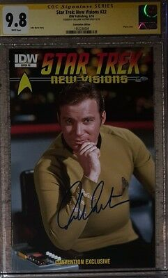 Star Trek: New Visions #22 photo cover variant_CGC 9.8 SS_signed William Shatner
