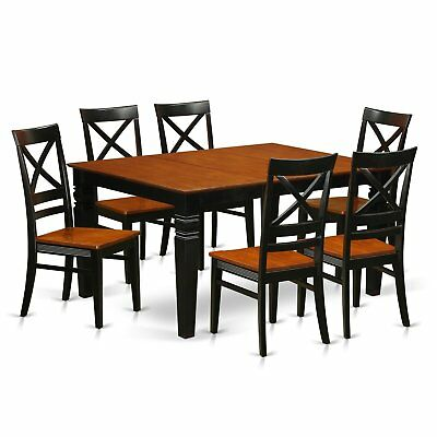 WEQU7-W  7 Pc Dining set with a Table and 6 Wood Chairs
