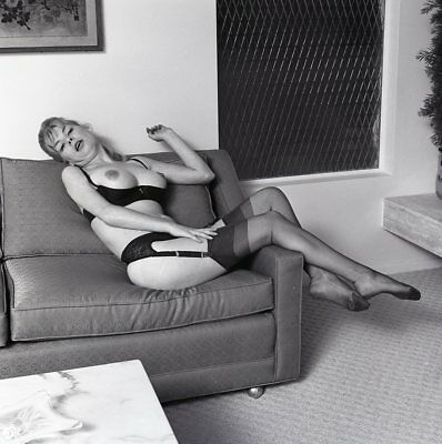 1960s Ron Vogel Negative, busty nude blonde pin-up girl Kim Kimberly, t216663