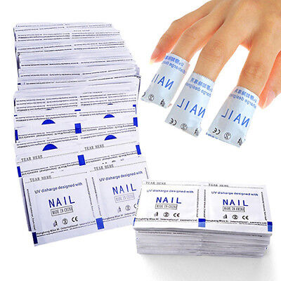 100 Pcs Gel Polish Remover Bags Pads Foil Makeup Nail Art Cleaner Liberal