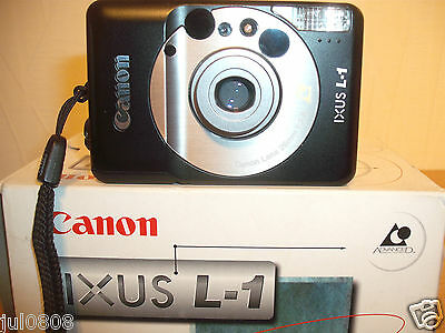 Boxed Canon Ixus L-1 Quartz Date Aps Film Camera~Titles~Panorama~26Mm Lens 19N12