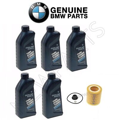 For BMW F10 F22 F23 F30 F32 F33 NEW 5-Quarts Genuine Oils and Oil Filter Kit