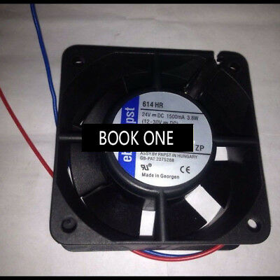Replace For ebmpapst Cooling Fan TYP 614HR 24V DC 150MA 3.8W 2 Wire 60*60*25MM