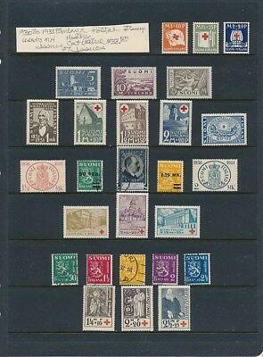 Own Part Of Finland Stamp History 27 Issue Cat $33.50 All  Shown