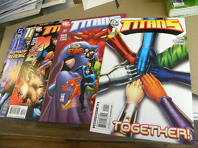 DC 2008 4 early issues TITANS 1 2 3 6 teen 2nd series qq
