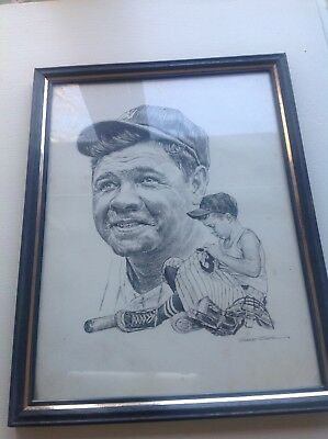 Robert Riger Print Of Babe Ruth New York Yankees 8x10