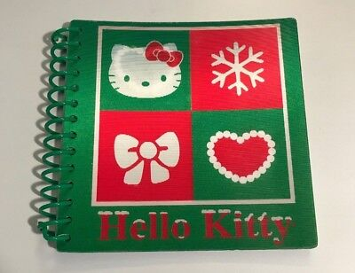 2008 Sanrio HELLO KITTY Christmas Mini 4x4 Spiral Notebook Lenticular 10 Avail