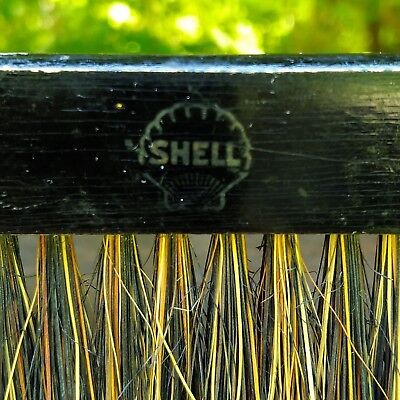 Shell Oil Company Wood Whisk Broom brush table duster crumb vintage rare prop