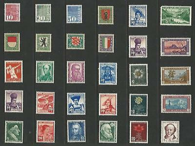 y6468 Switzerland / A Small Collection  Early & Modern Umm Lhm & Used