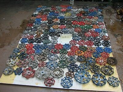 Lot 201 Vintage Metal water Faucet Knobs valve handles STEAMPUNK ARTS AND CRAFTS