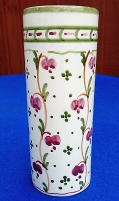 LIBERTY & Co LONDON ~ ARTS & CRAFTS HANDPAINTED CERAMIC VASE ~ PERIOD ANTIQUE