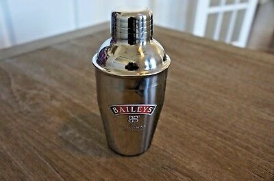"New Bailey's Irish Cream Mini Metal Cocktail Shaker Promo Item 6.25"" Tall"