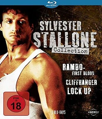 Sylvester Stallone Collection Blu-ray Cliffhanger, Lock Up, Rambo 1 NEU OVP