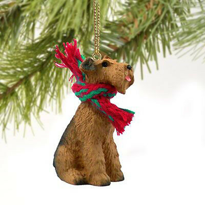 Airedale Terrier Dog Tiny One Miniature Christmas Holiday ORNAMENT