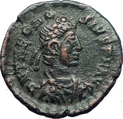 THEODOSIUS I the Great 384AD Genuine Ancient  Roman Coin VICTORY ANGEL  i73497