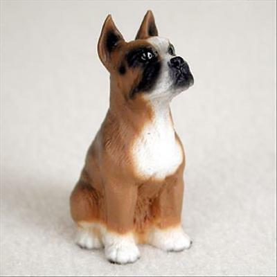 Boxer Cropped Ears Dog Tiny One Miniature Small Hand Painted Figurine