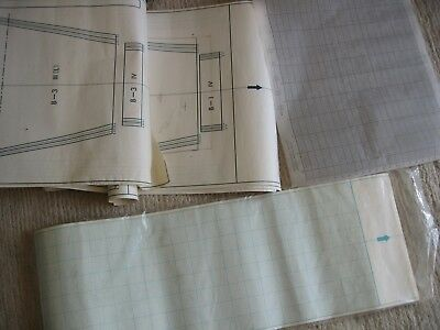 Knitmaster Silver Reed Machine Knitting Graph Paper x6 + USED PAPER PATTERN ETC