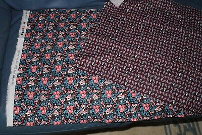 Liberty Art Fabric Pieces X 2 Quilts 1700-2010 For V&a Rose + 1 Other Patchwork