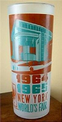 "1964 New York World's Fair 'Port of Authority Building"" Ice Tea Glassware"
