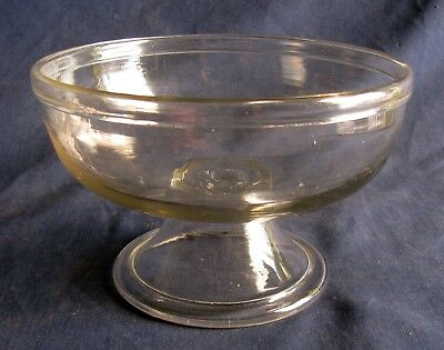 Early Hand Blown Flint Glass Compote
