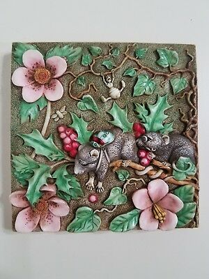 Harmony Kingdom Picturesque Byron's Secret Garden Two Blind Mice Magnetic Tile