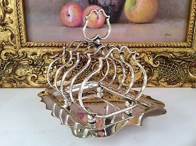 Superb Antique GEORGIAN Style Silver Plated Toast Rack & Integrated Tray C1860