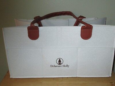 Extra Large Diaper Caddy by Delaware Holly: Felt Baby Diaper Storage Caddy.