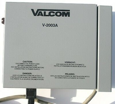 Valcom V 2003A Telephone System Access 3 Zones Paging All Call Cable Phone