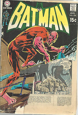 Batman No 224 Aug 1970 DC Comics Neal Adams Cover Damaged Comic Book Vintage