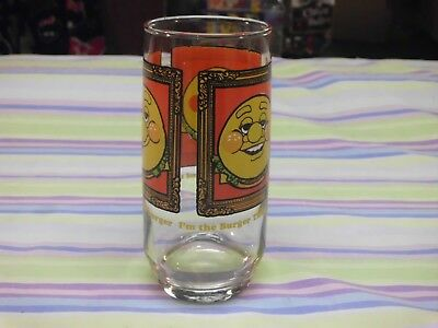 vintage burger king glass 1979