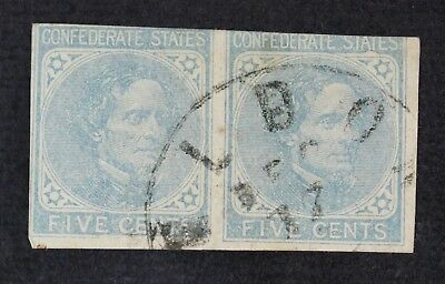 CKStamps: US Confederate States Stamps Collection Scott#6 Used Pair