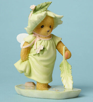 Cherished Teddies*FAIRY BEAR PLAYING with LEAF *spring*ADELINE*4044689