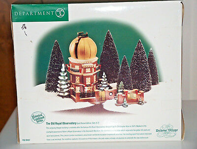 DEPT 56 DICKENS VILLAGE OLD ROYAL OBSERVATORY GOLD DOME 58451 - #4491 of 5500