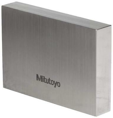 "Mitutoyo Steel Rectangular Gage Block, ASME Grade AS-1, 0.011"" Length"