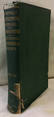 6 issues 1870 Monthly Microscopical Journal + Tranactions Royal Microscope Soc.