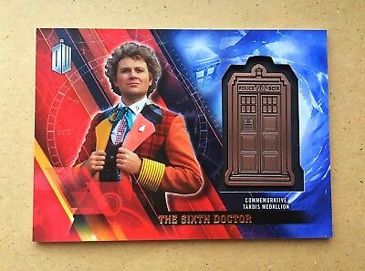 Doctor Who Timeless - Tardis Medallion Card The Sixth Doctor 040/150