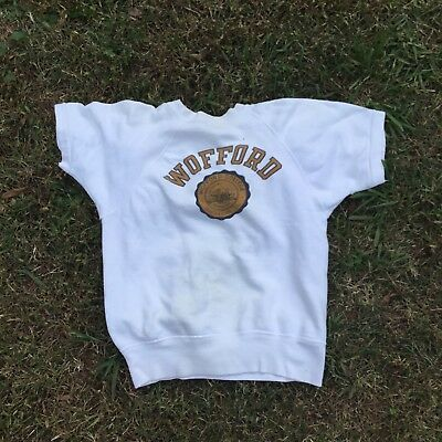 vintage 1950s Wofford College Champion Running Man Shortsleeve Crewneck